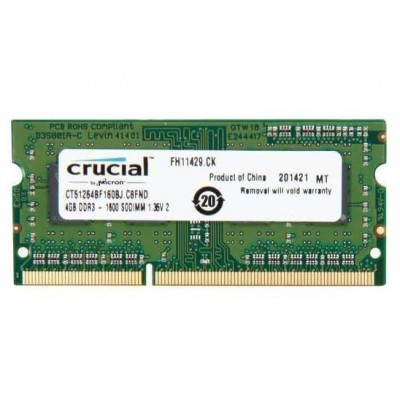 Simm SO DDR3 PC1600 4GB CL11 Crucial