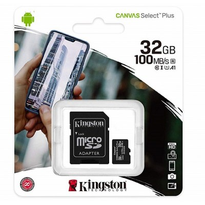 Memory card Micro-SD 32GB Kingston Canvas UHS-I
