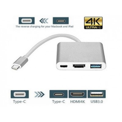 Adattatore Convertitore Tipo-C to hdmi 3in1