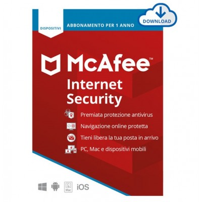McAfee Internet Security 2020 1 Dispositivo 1 Anno