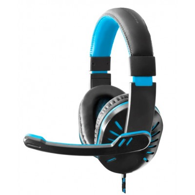 CUFFIE CON MIC GAMING CROW BLUE
