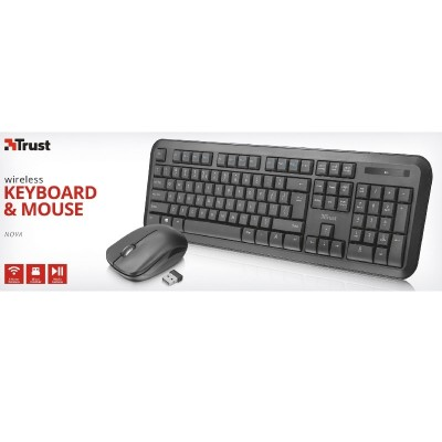 Trust Nova Tastiera e Mouse Wireless ITA